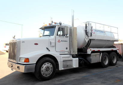anterra oilfield waste disposal services transportation collection, vacuum trucks, roll off trucks