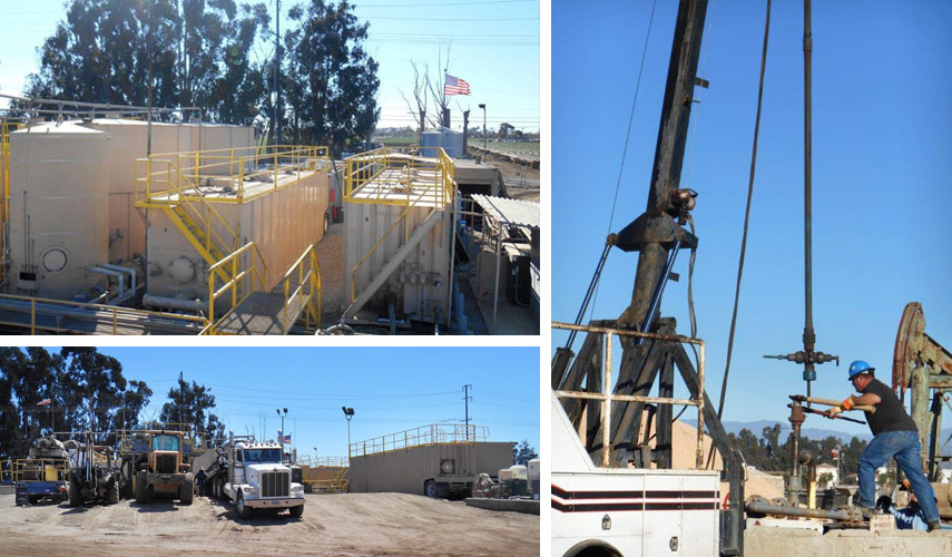 Anterra oilfield waste support operations, processing plant Oxnard Facility