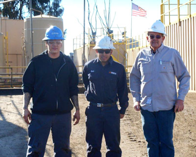 anterra oilfield waste support operations, team of workers at Oxnard Class 2 Disposal Facility, Ventura County