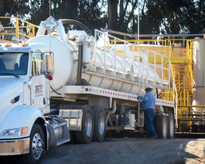 anterra oilfield waste management support, oxnard treatment facility and truck, ventura county