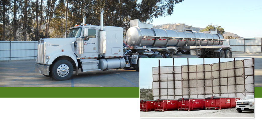 anterra oilfield waste disposal transportation, trucks, bins, Ventura County